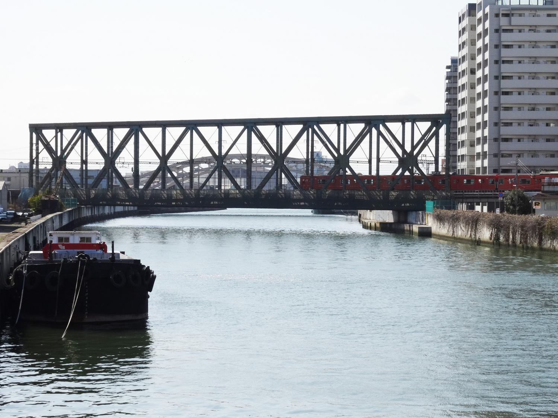 木津川橋梁と岩崎運河橋梁 | The...